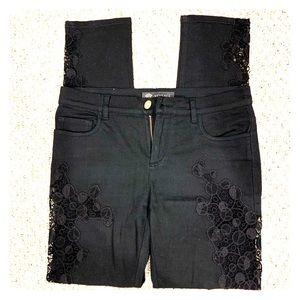 Versace size 29 black lace pants